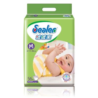Sealer噓噓樂輕柔乾爽嬰兒紙尿褲M號(56片x6包/箱)