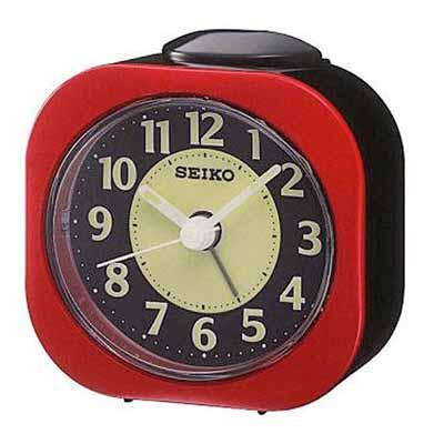 SEIKO 精工 嗶嗶聲 靜音 鬧鐘(QHE121R)-紅/7.3x7.2cm