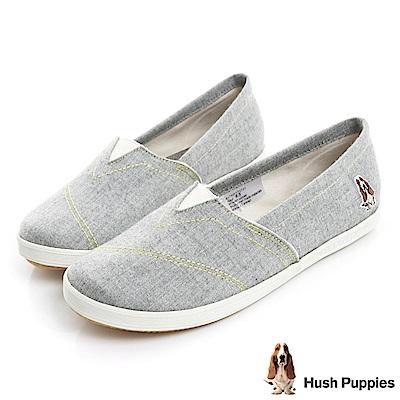 Hush Puppies 羊毛氈咖啡紗懶人鞋-灰色