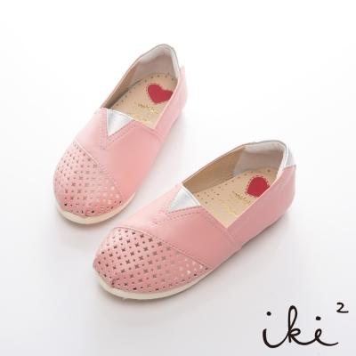 iki2童鞋-浪漫鏤空花仙子平底鞋-粉