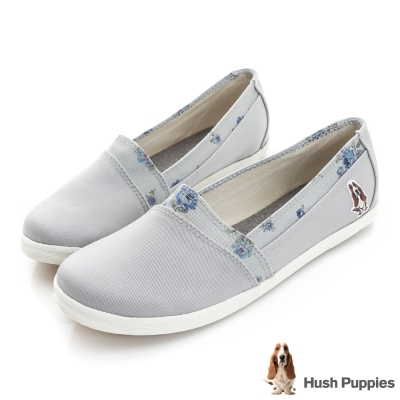 Hush Puppies 仙氣飄飄咖啡紗TiTi懶人鞋-灰色