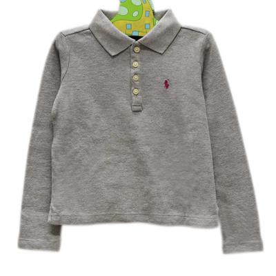 Ralph Lauren 經典長袖POLO衫-灰色(5歲)