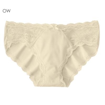 aimerfeel 淑女側邊蕾絲無痕內褲-米白色