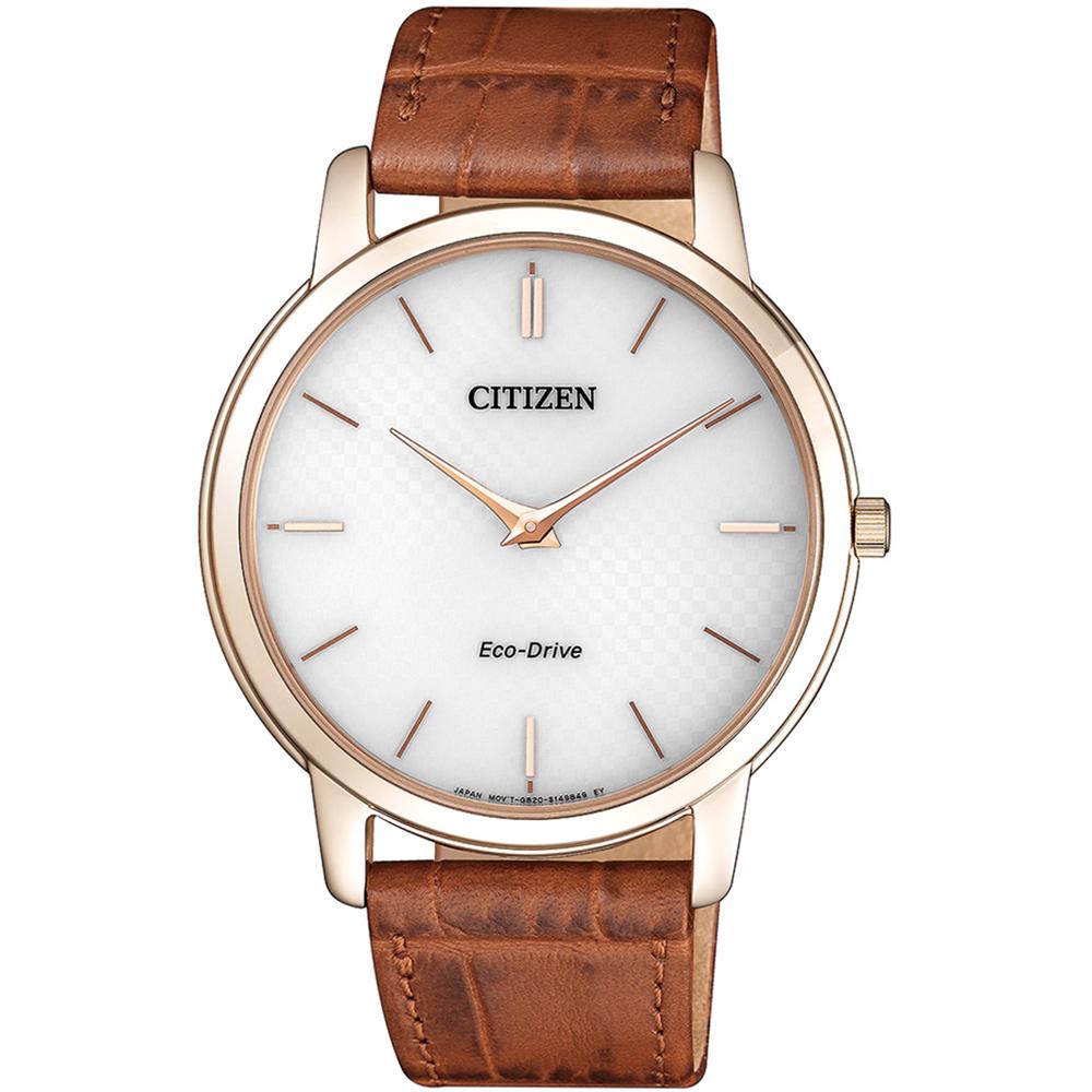 CITIZEN 星辰 低斂風尚光動能超薄手錶(AR1133-15A)-白/39mm