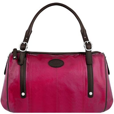 TODS 紫紅色亮面漆皮G-BAG波士頓包-大型