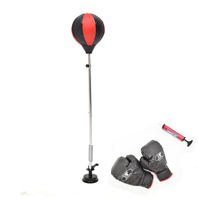 吸盤底座立式速度球(送拳擊手套+打氣筒)