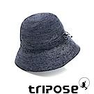 tripose 經典水洗-100%手工Raffia時尚遮陽草帽-帽簷-8cm(水洗藍)