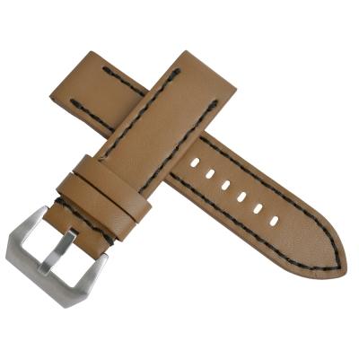 沛納海Panerai 特製加厚代用真皮素面錶帶-淺棕色