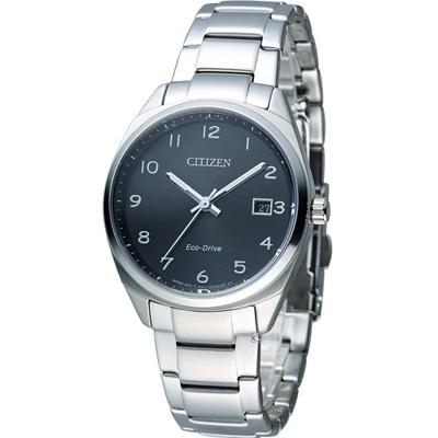 CITIZEN 星辰 光動能優雅時尚腕錶(EO1170-51E)-黑/35mm