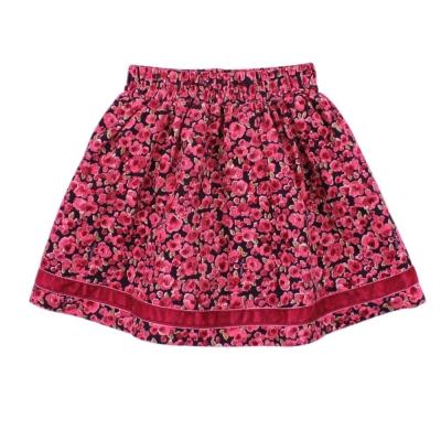 愛的世界 MYBABY 純棉鬆緊帶條絨短裙/<b>3</b>~4歲