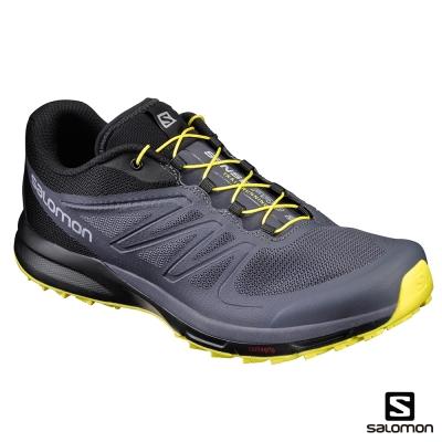 Salomon 野跑鞋 男 SENSE PRO 2 黑黃