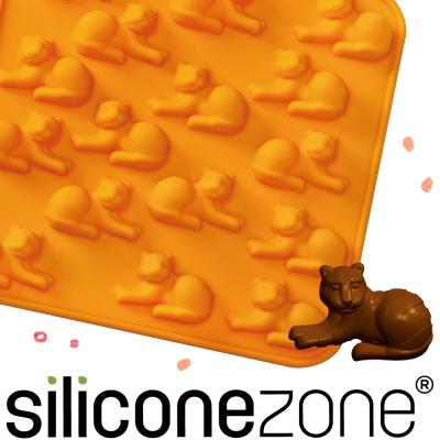 Siliconezone 施理康ZOO耐熱老虎巧克力模/冰模-橘色