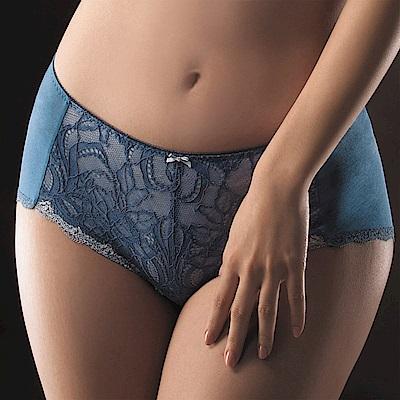 華歌爾 挺魔力大V美背系列M-3L 中腰平口褲(藍)
