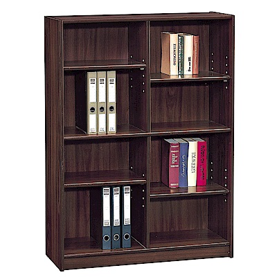 H&D 胡桃3X4尺中空書櫥 (寬91X深30X高121cm)