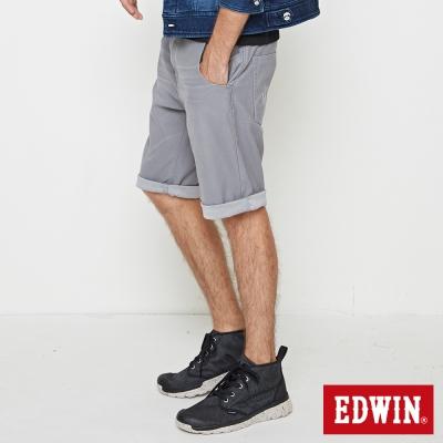 EDWIN 加大碼迦績褲JERSEY合身色褲短褲-男-淺灰色