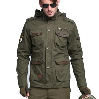 美國熊 軍裝風格顯瘦版型 M65多口袋立領軍外套