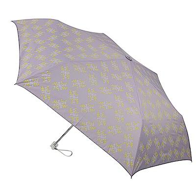 2mm 銀膠抗UV 粉彩花漾超細手開傘 (薰衣紫)