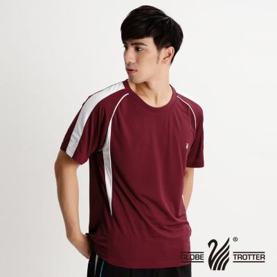 【遊遍天下】中性款MIT嚴選配色吸濕排汗機能圓領衫S 079 暗紅