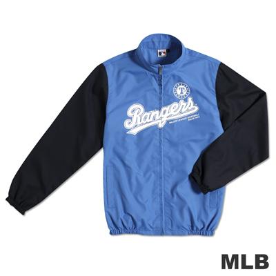 MLB-德州遊騎兵隊運動薄風衣外套-藍(男)