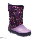 Crocs 卡駱馳 (童鞋) 兒童圖案雪地洛基靴 204704-538
