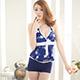 泳衣 簡約花漾 兩件式氣質印花泳裝(藍F) AngelHoney天使霓裳 product thumbnail 1