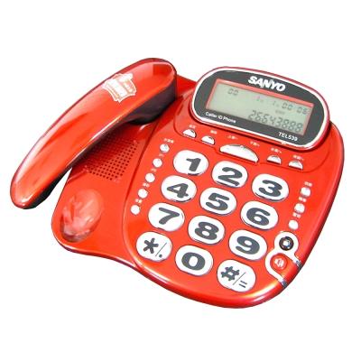 三洋 SANYO 超大字鍵 來電顯示電話 TEL-539