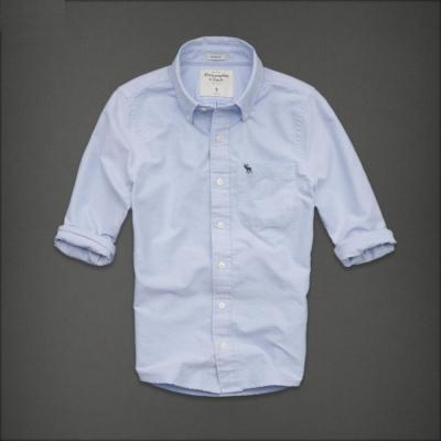 AF a&f Abercrombie & Fitch 長袖 襯衫 藍色 0125
