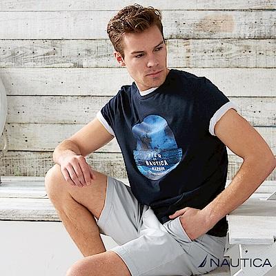 Nautica 夏夜海洋短袖T恤 -深藍