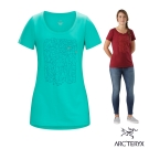 Arcteryx 始祖鳥 24系列 女 Block 有機棉 短袖T恤 灰 翠鳥綠