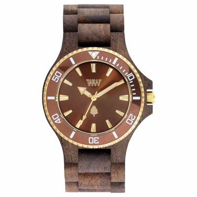 WEWOOD 義大利木頭腕錶  DATE MB CHOCO BROWN-玫瑰木/42mm