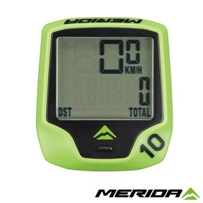 《MERIDA》美利達 無線碼表 10功能 綠 1075