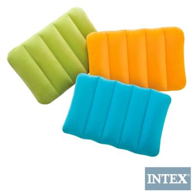 INTEX 彩色充氣枕 3色隨機出貨 (2入)