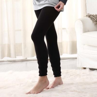 【Gennie's奇妮】泡泡彈性厚棉孕婦九分褲襪(黑/藍/灰)