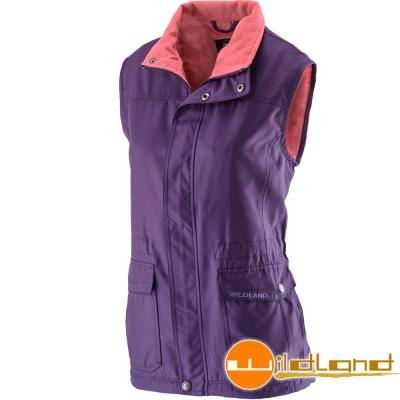 Wildland 荒野 0A22703-79深紫色 女 防風時尚保暖背心