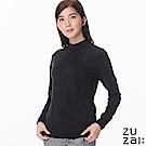 zuzai 自在發熱衣BIELLA YARN女高領羊毛衫-鐵灰色