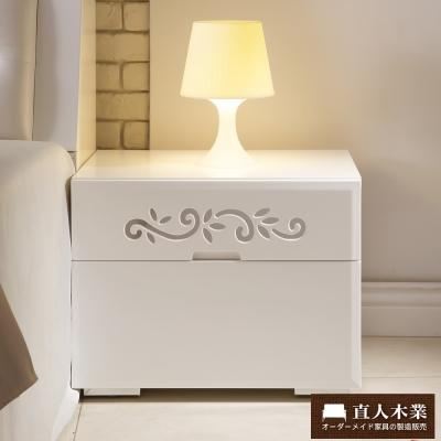 日本直人木業-AVRIL白色簡約54cm床頭櫃(54x42x42cm)