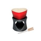LE CREUSET 瓷器愛心巧克力鍋 (櫻桃紅)
