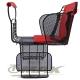 鐵馬行自行車舒適兒童安全後座椅-台製-紅 product thumbnail 1