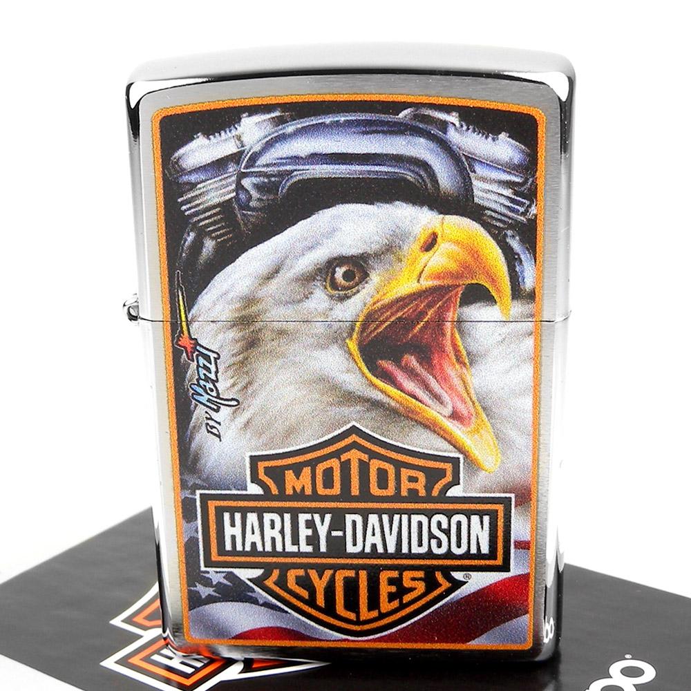 ZIPPO 美系~哈雷~Harley-Davidson Mazzi-老鷹圖案打火機