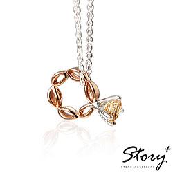 STORY故事銀飾-Flora花神戒 - 925純銀項鍊