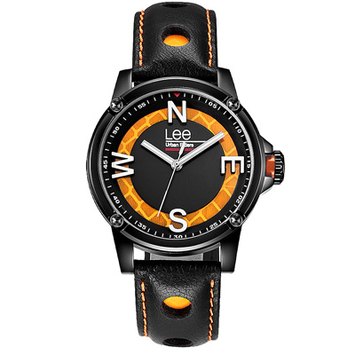 Lee  玩色方向感時尚腕錶-LES-M14DBL1-14/40mm