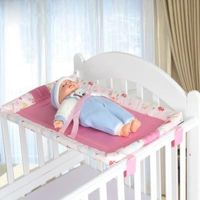 DF 童趣館 - 嬰兒床專用可折疊式平台床台-粉色