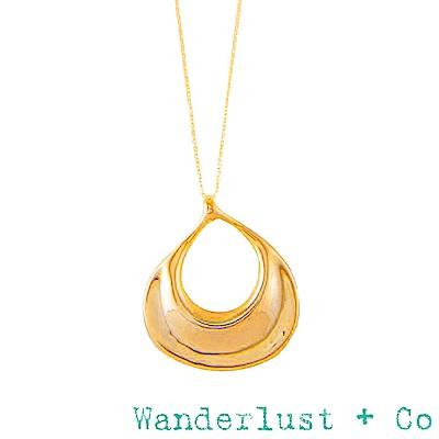 Wanderlust+Co 澳洲品牌 法國浪漫水滴項鍊 金色長項鍊 EAU GOLD