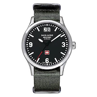 阿爾卑斯 S.A.M -獨家限定-空戰系列-黑錶盤/軍綠NATO帶/43mm