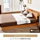日本直人木業傢俱~3.5尺單尺原木色單人床架