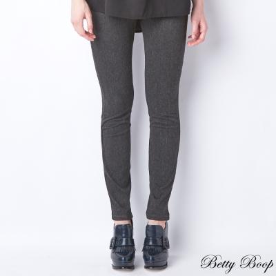 Betty-Boop-素色彈性口袋直筒長褲-共二色