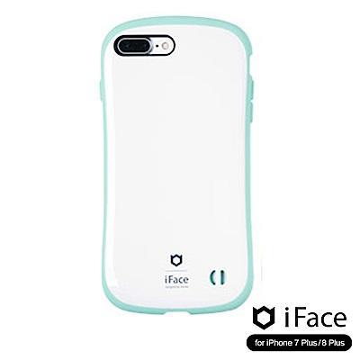 iFace iPhone8/8+ 雙素材吸震抗衝擊手機殼(馬卡龍)-白/綠