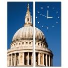 美學365-兩聯客製化掛飾壁鐘時鐘無框畫藝術掛畫-聖保羅大教堂-20x50cm