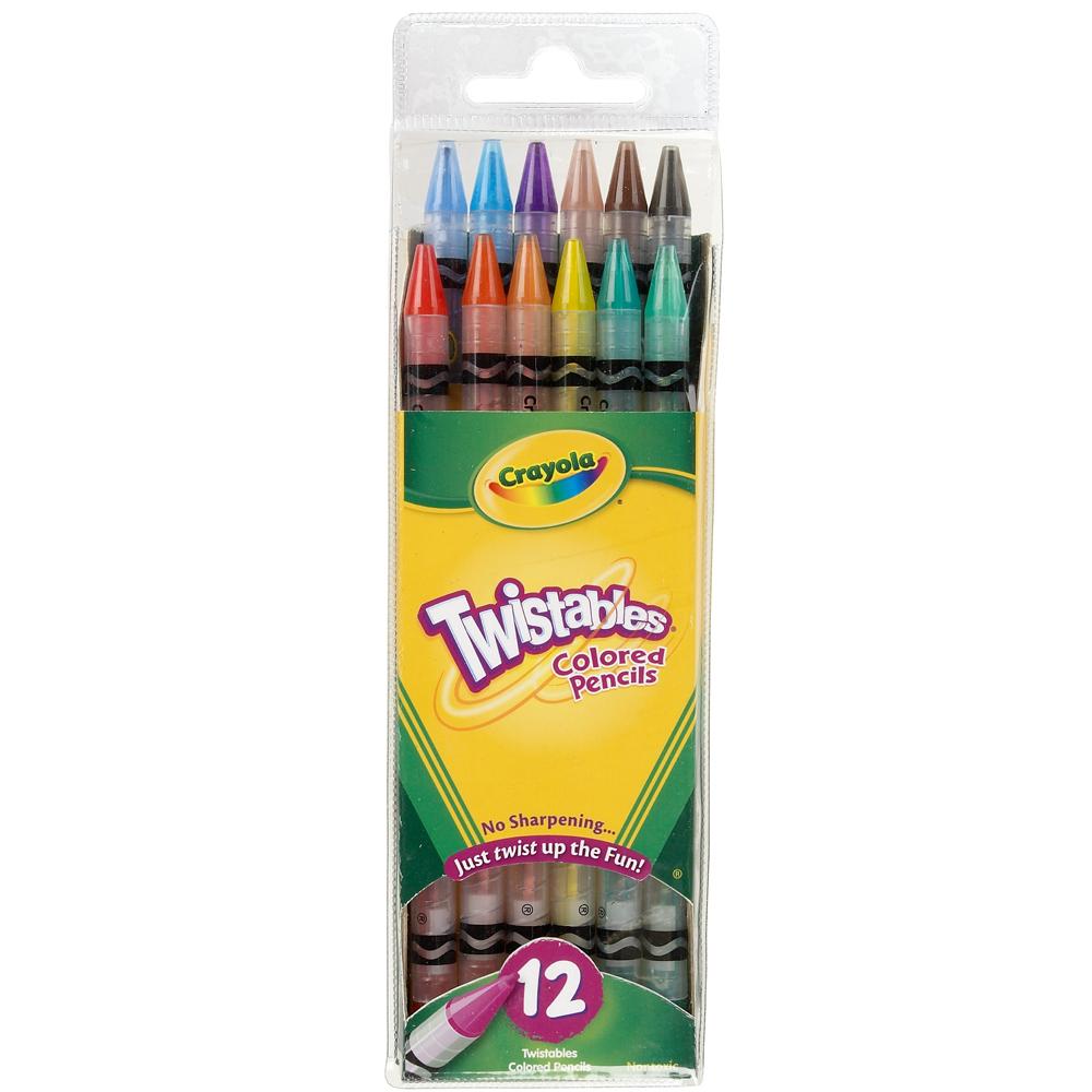美國crayola 精選系列-旋轉12色彩色鉛筆(3Y+)