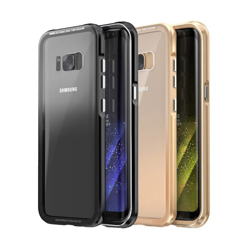 水漾 Glass Samsung S8 金屬邊框玻璃背蓋保護殼